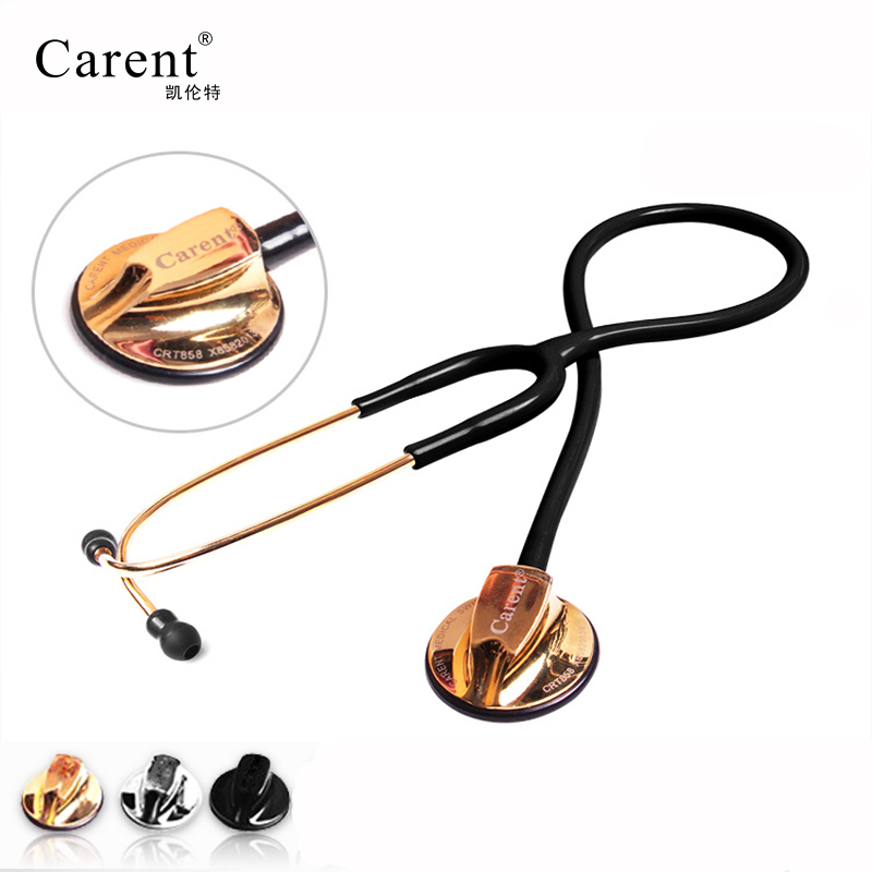 CARENT Professional estetoscopio Dual Medical silverback stainless steel Stethoscope for Doctor nurse Fetal Heart Rate image