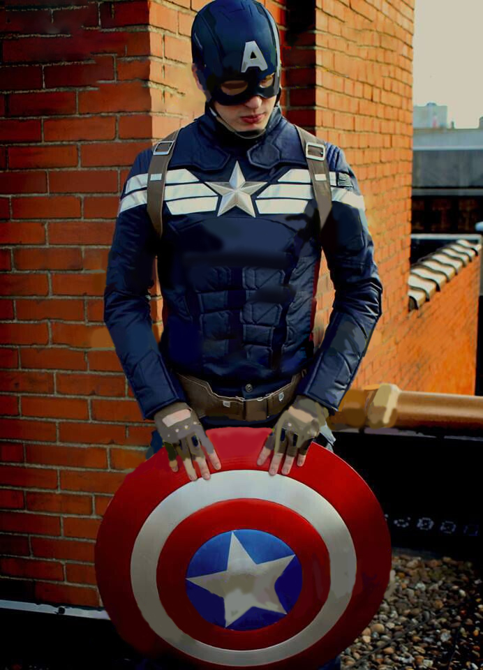 Avengers Captain America Steve Rogers Cosplay Costume Uniform Attire Outfit Suit Shield