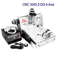 LY CNC Milling Machine 230w Spindle Motor 4 Axis 3040Z DQ CNC Engraving Machine Cutter