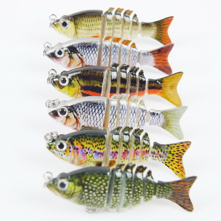 2.4G 5.1CM 3D Lifelike Eyes Crazy Panfish Series Multi 6 Jointed Hard Fishing Lure Bait Swimbait with Treble Hook Pesca lifelike minnow fishing lure 1pcs 9 5cm 11 2g high quality treble hook artificial hard bait treble hook crankbait with 3d eyes