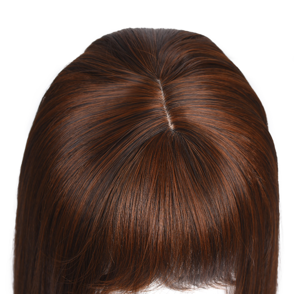 jeedou Short Hair Wig Irregular Bangs Synthetic Bundles With Closure Hair With 3Clips Simple Wig 45cm 100g for Women Wigs