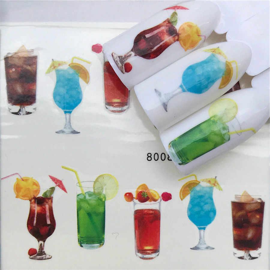 Verres pour jus de Fruit, Gel à ongles, manucure Design, 6 couleurs, trempage de Gel émail, vernis à ongles, 1 pièce
