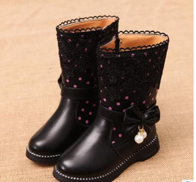 Children's boos Leisure Wild shoes For Girls Princess Kids Leather Rubber Female Children's Boot Winter Boots For Girls Quality