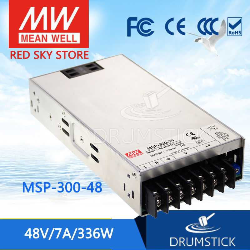 Hot sale MEAN WELL MSP-300-48 48V 7A meanwell MSP-300 48V 336W Single Output Medical Type Power Supply mean well original msp 100 24 24v 4 5a meanwell msp 100 24v 108w single output medical type power supply