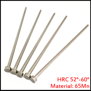 2mm OD 2*100/150/200 2x100/150/200 65Mn HRC60 Round Tip Plastic Injection Component Mold Straight Punching Ejector Pin(China)