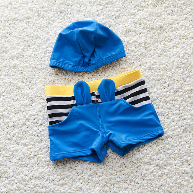 Fashion Boy Summer Swim Suit With Hat Beach Cartoon Toddler   Kids Swimwear Rush Guards Trunk Shorts S2083