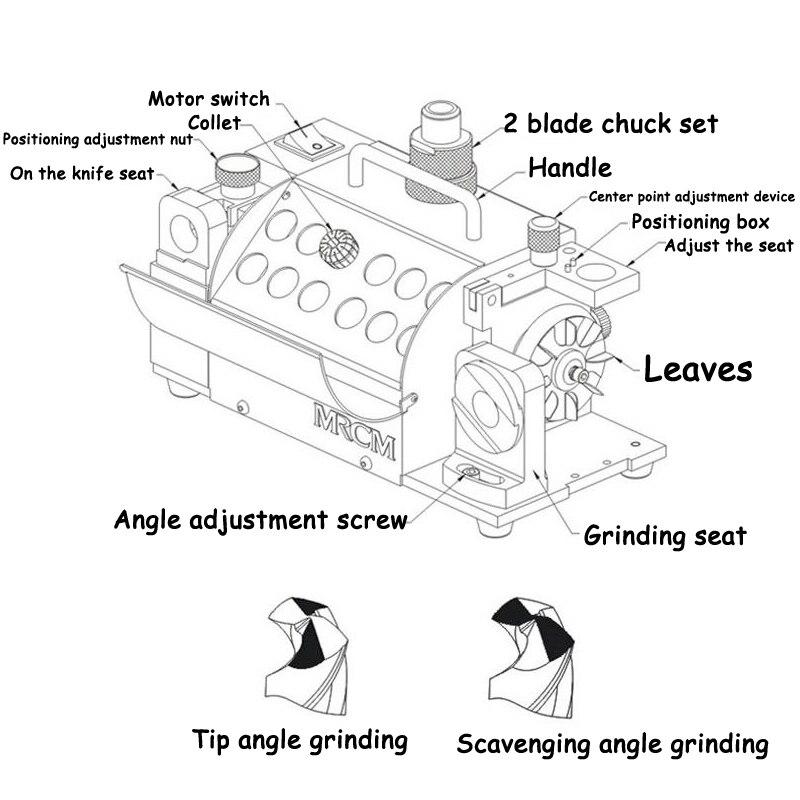Image 4 - MR 13A Drill Bit Sharpener Drill Grinder Grinding Machine portable carbide tools, 2 13mm 100 135Angle CE Certification 220v/110vbit sharpenerdrill grinderdrill bit sharpener -