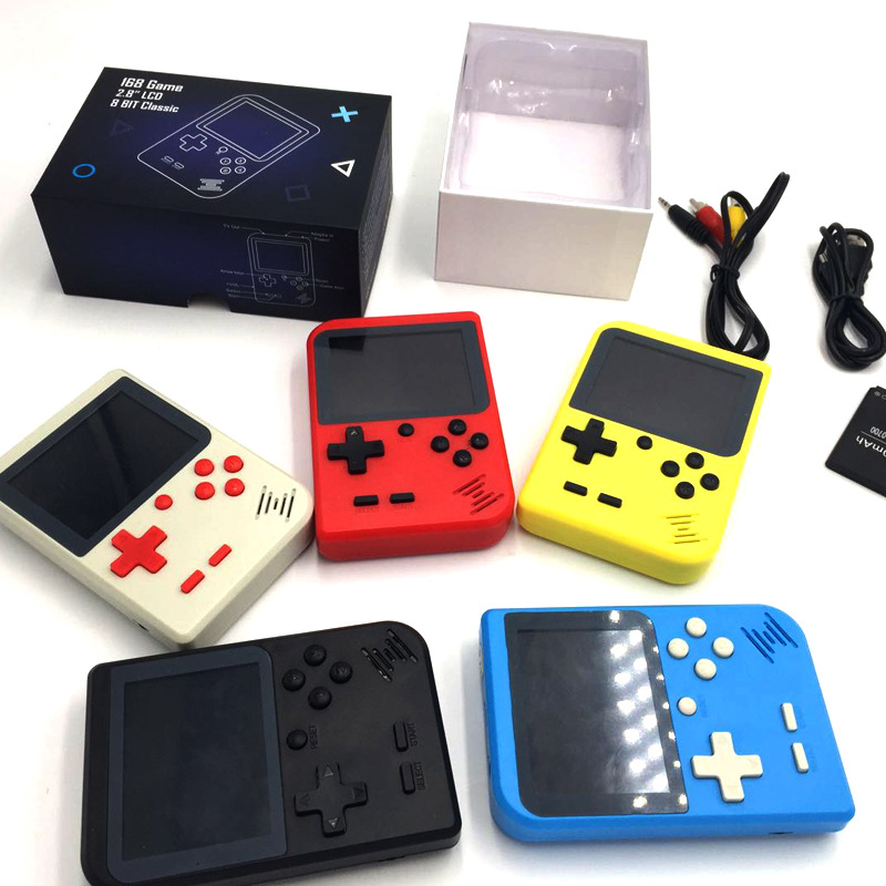 2.8 inch 8 Bit Retro Mini Portable Video Game Console Pocket Handheld Game Player Built-in 168 Classic Games Family TV Output
