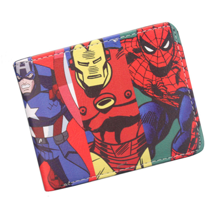 wallet Marvel Comics SuperHeroes Thor Hulk Deadpool X-Man Short wallets With Card Holder coin Purse for boys girl cool gift maisto jeep wrangler rubicon fire engine 1 18 scale alloy model metal diecast car toys high quality collection kids toys gift