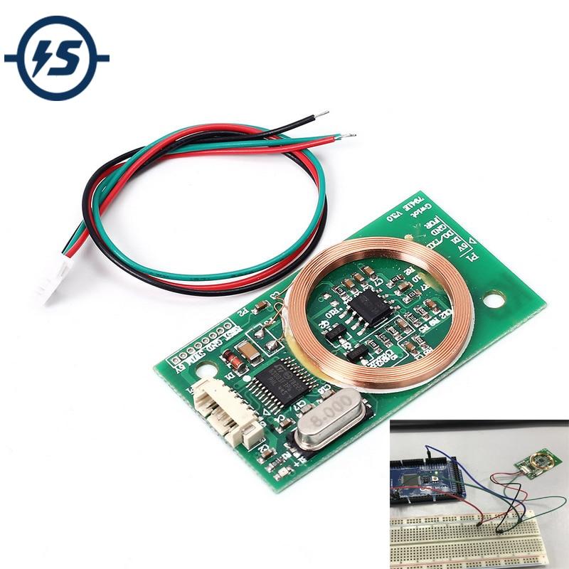 RFID Reader Wireless Module UART 3Pin 125KHz Card Reading EM4100 8CM DC 5V for IC Card PCB Attenna Sensor Kits Arduino