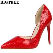 2017 Обувь Для женщин Насосы пикантные красные туфли-лодочки обувь на высоком каблуке Роскошные модные камень Sapato Feminino Свадебные вечерние сапоги DS638-2