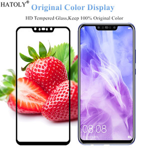 Image 3 - 2Pcs For Nokia 8.1 Glass Tempered Glass for Nokia 8.1 X7 HD Film 9H Full Glue Full Cover Screen Protector for Nokia 8.1
