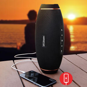 HOPESTAR Outdoor Subwoofer Column Speakers Bass Bluetooth H20 Portable Wireless Stereo