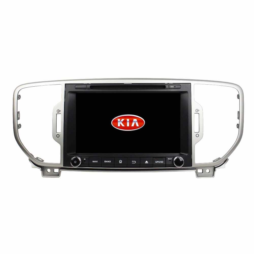 Android 8.0 octa core 4GB RAM car dvd player for KIA Sportage 2016 ips touch screen head units tape recorder radio