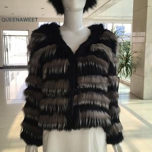 Женское трикотажное пальто, длинная куртка из натурального кроличьего меха, винтажная одежда, 2019