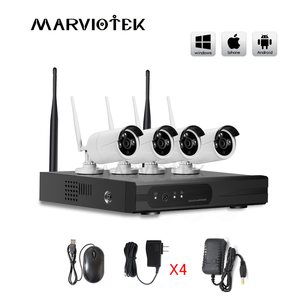 4CH 720P DVR Kit Home Security CCTV Camera System Outdoor Waterproof P2P Video Surveillance System 4PCS