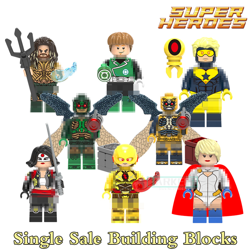 Building Blocks Katana Power Girl Parademon Aquaman Super Heroes Star Wars Set Bricks Dolls Kids DIY Toys Hobbies X0177 Figures building blocks the walking dead figures rick negan carl daryl star wars super heroes set assemble bricks kids diy toys hobbies