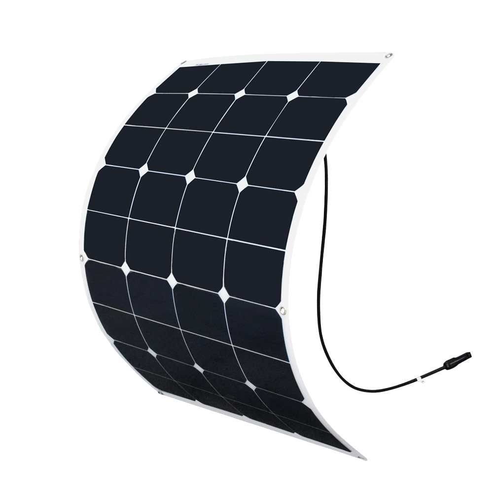 BOGUANG 75W 20V flexible solar panel solar cell solar cable on back side for 12V car RV boat yacht battery charger