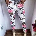Женская Мода Цветочные Печати Хип-Хоп Шаровары Штаны Повседневные Брюки