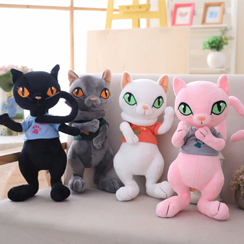 Hot New 1pc 30cm/40cm/50cm Cute  Cat Plush Cat Lovely  Plush Animal Toy Children Kids Birthday Christmas Gifts