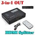 1080 P HD 1 до 3 Порта HDMI Переключатель Switcher Концентратор Splitter Hdmi селектор Для PS3 Игры Для HDTV Видео DVD + Инфракрасный Пульт Дистанционного Управления