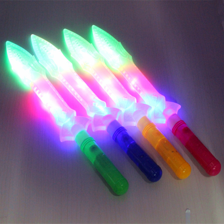 Toys Selling Childrens Electronic Knife Flashing Swords Boy Gift Outdoor Fun & Sports Sword Weapon Category Plastic