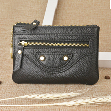 Women Coin Purse Genuine Leather The First Layer Cow Leather Female Change Bags Organizer Key Pouch Small Wallet Pure Cowskin