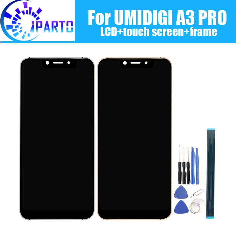 5.7 inch UMIDIGI A3 PRO LCD Display+Touch Screen Digitizer +Frame Assembly 100% Original New LCD+Touch Digitizer for A3 PRO5.7 inch UMIDIGI A3 PRO LCD Display+Touch Screen Digitizer +Frame Assembly 100% Original New LCD+Touch Digitizer for A3 PRO