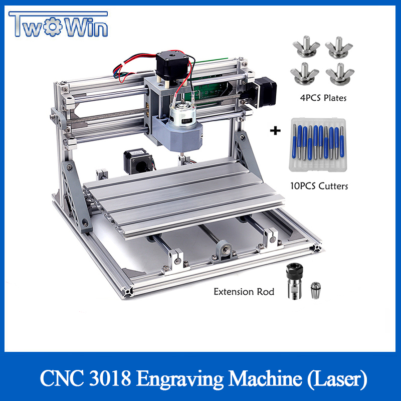 CNC 3018 with ER11 Collet DIY Mini CNC Engraving Machine Laser Engraving PCB PVC Milling Machine