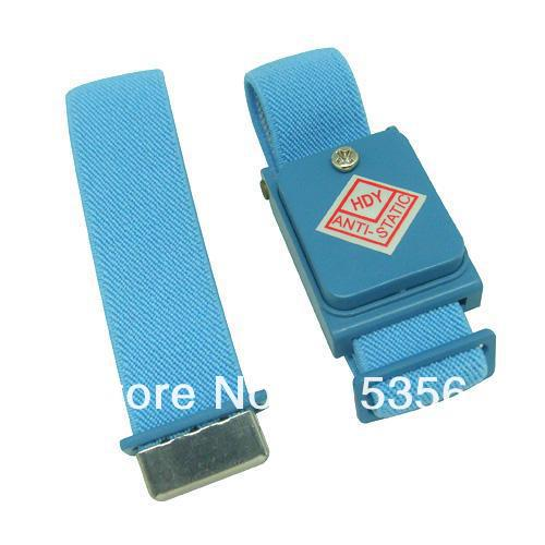 10pcs/lot New Anti Static Antistatic Esd Cordless Wrist Strap Band Blue Free Shipping Easy To Repair
