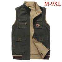 Gilet de grande taille pour hommes M-9XL deux tailles porter multi poches gilet militaire tactique hommes colete masculino photographe gilet