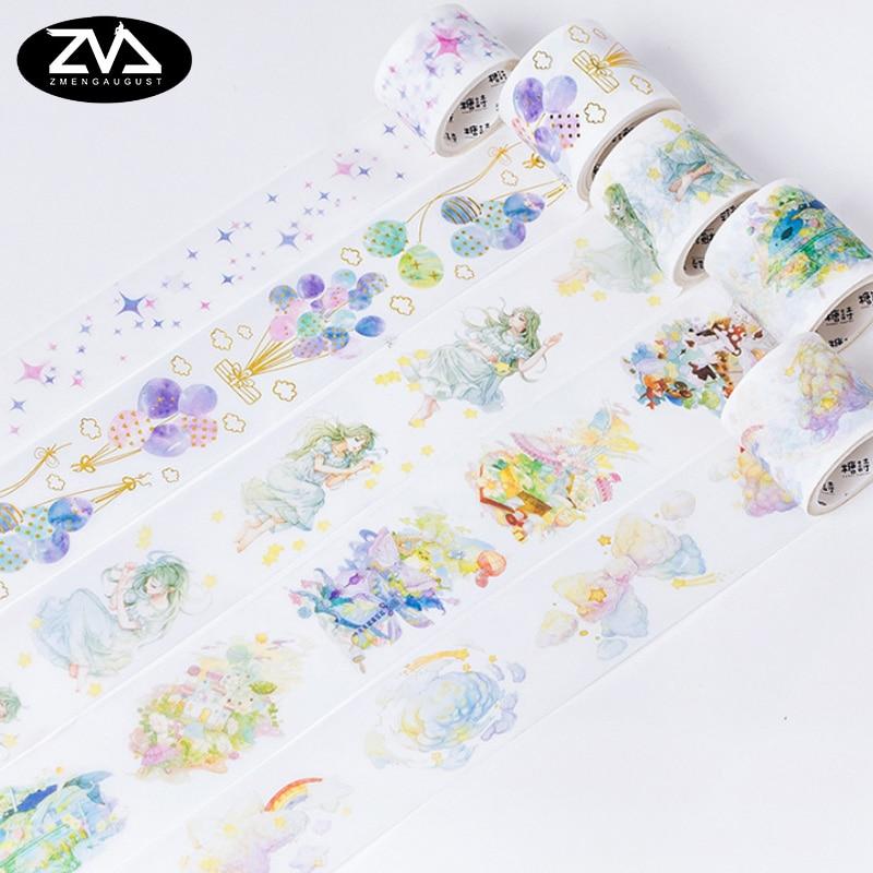 3-4.5cm*5M Sweet dream girl series DIY Decorative Washi Tape Scrapbooking Masking Tape School Office Supply Escolar Papelaria