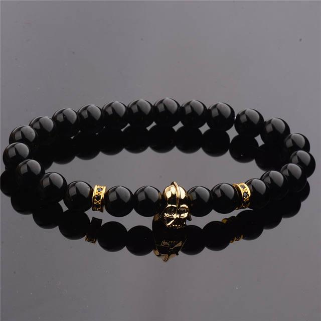Darth Vader Stone Bead Bracelet