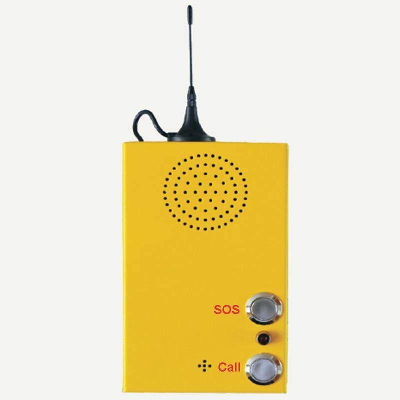 GSM Seule cliquez Système D'alarme avec QUADRI-Bande Appel D'urgence pour aider Dans Le Monde Entier avec Interphone pour Appelant Livraison Gratuite