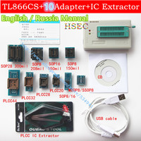 100 Original Updated MiniPro TL866CS USB Universal Programmer 10 Adapter PLCC Extractor TL866CS Bios Programme And