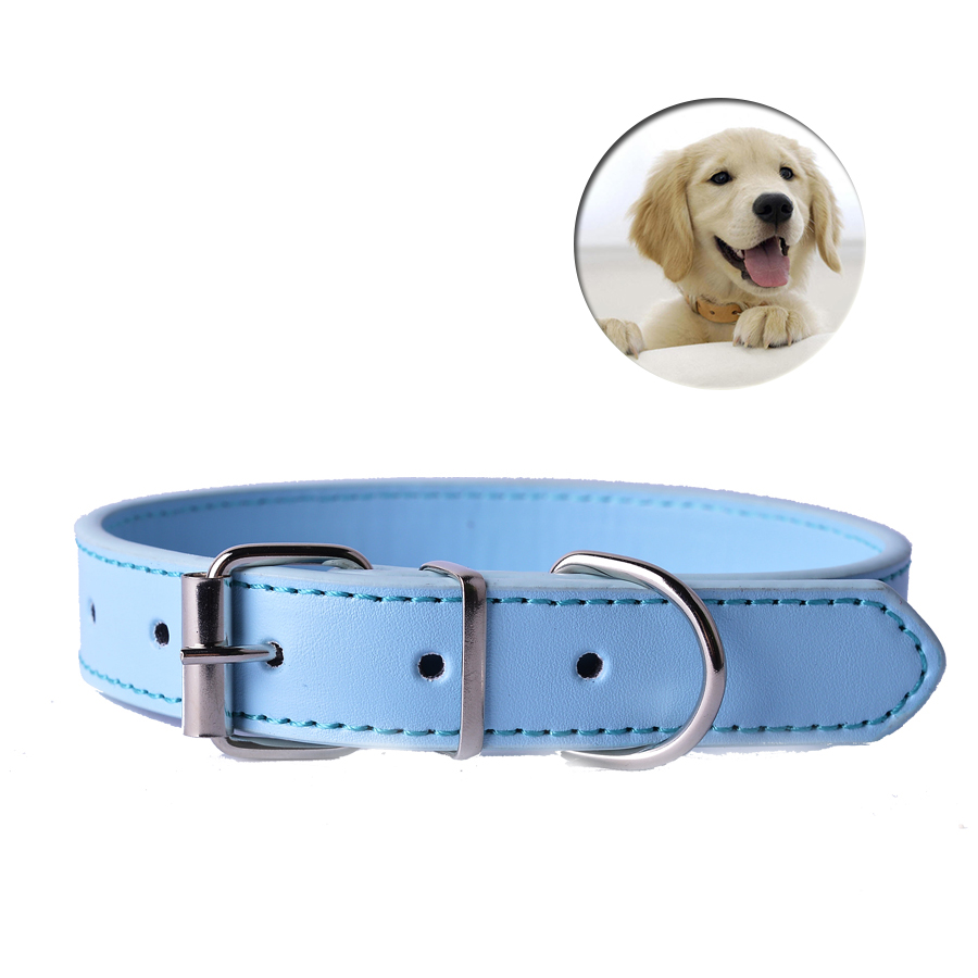 Fashion 8Colors Pu Leather Pet Dog Collar For Puppy Cat