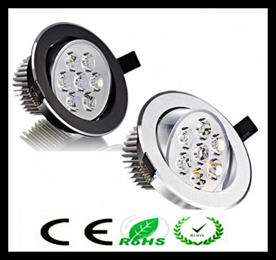 1pcs עגול Led downlight אור תקרה ספוט אור 6w 9w 12w 15w 21w ac110-230v תקרה אורות הפסקה תאורה מקורה