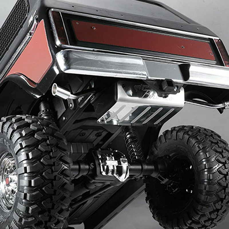 Simulation Fuel Tank Exhaust Pipe For TRX4 Ford Bronco RC Gasoline Stainless steel plastic