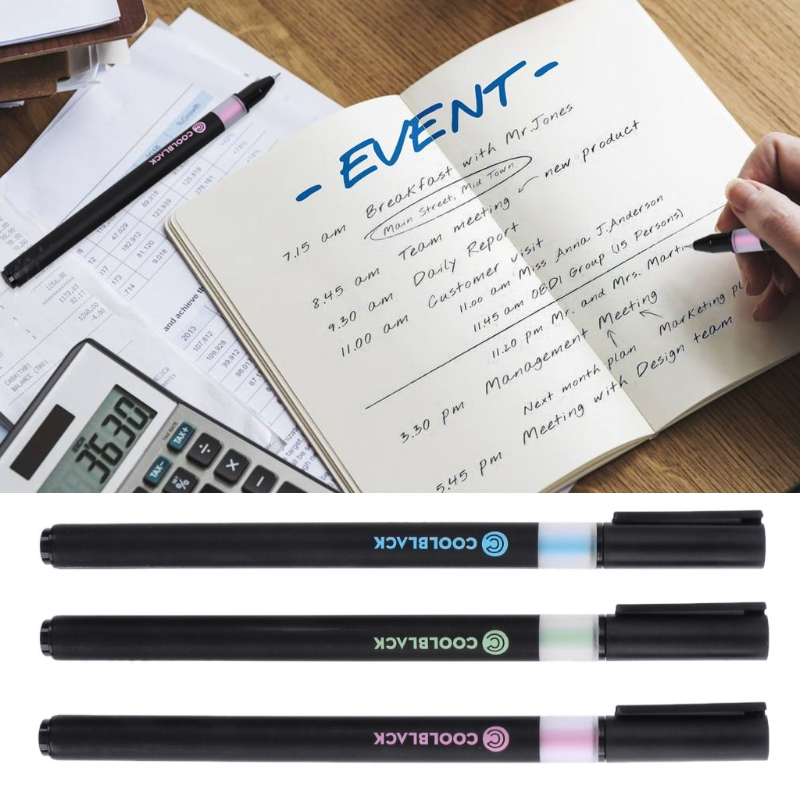 0 5mm Cool Black Gel Pen Writing Signature School Office Stationery Papelaria Gel Pen in Gel Pens from Office School Supplies