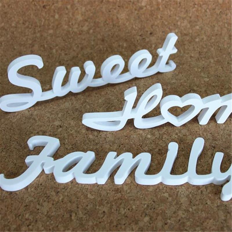 Изготовление на заказ любых деревянных слов, деревянных белых букв, букв алфавита, имя, используемое для подарка на день рождения, свадебных...