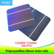 DIY 125*125 Monocrystalline Silicon Solar Cells 3.0W 0.5V high-efficiency for home use Solar panel cellphone/smartphone charger silicon nanowires for hybrid solar cells