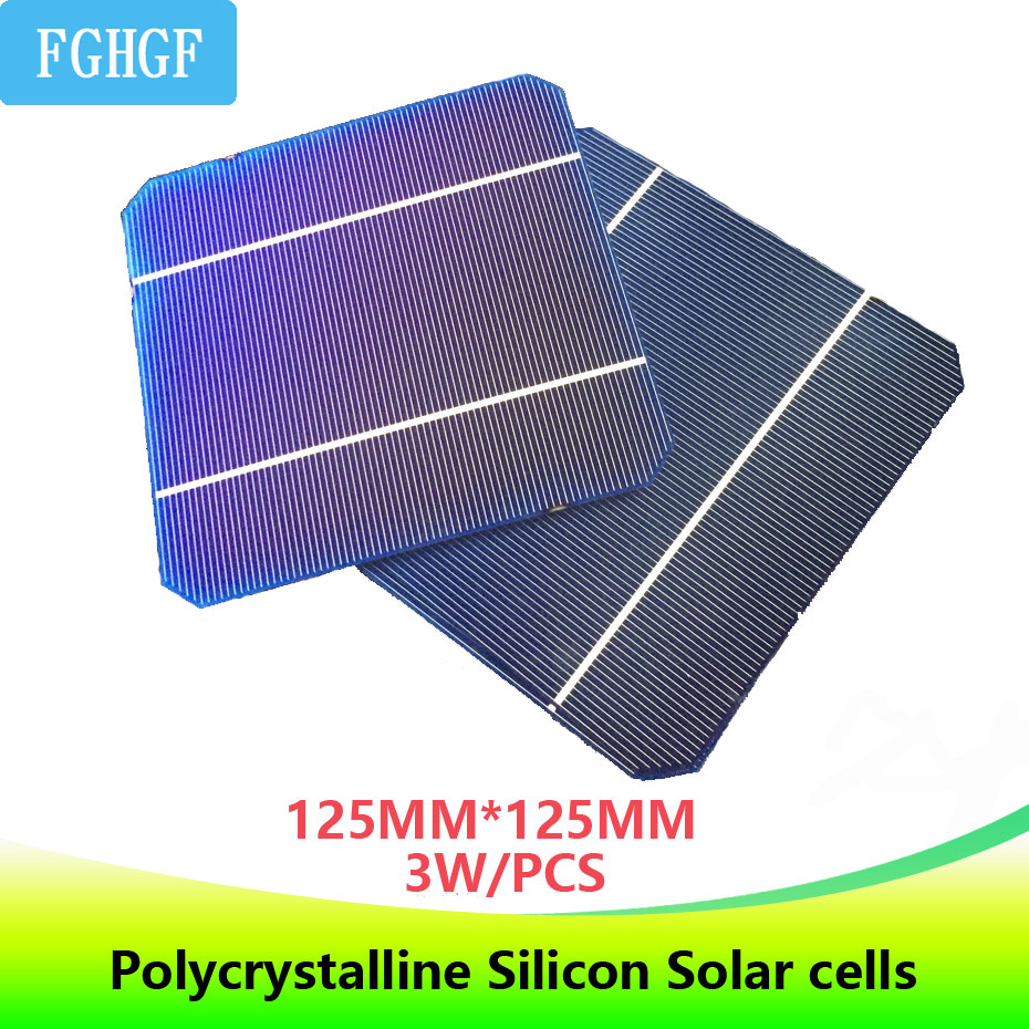 DIY 125*125 Monocrystalline Silicon <font><b>Solar</b></font> Cells 3.0W 0.5V high-efficiency for home use <font><b>Solar</b></font> <font><b>panel</b></font> cellphone/smartphone charger image