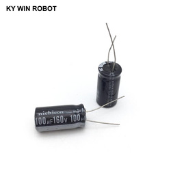 5 pces capacitor eletrolítico de alumínio 100 uf 160 v 13*20mm frekuensi tinggi kapasitor eletrolítico radial