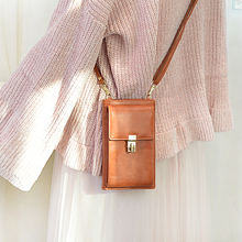 2019 New Fashion Women zipper Lock Shoulder Bag  Messenger Phone Coin Bag Small Hasp Card Holder Wallet Lady Leather Purse