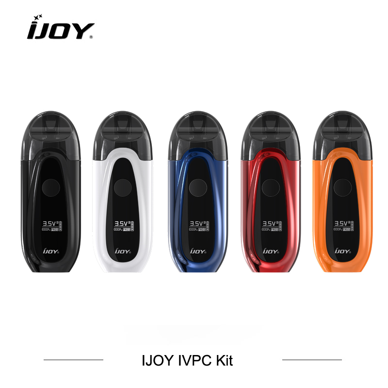 3pcs lot IJOY IVPC Kit Pod System Electronic Cigarettes 2ml IVPC Cartridges 350mah Battery Vaporizer Support