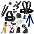 Acessórios conjunto tripé monopé gopro belt peito cabeça strap mount para go pro hero4 conjunto para sjcam eken h8 h9 3 5 black edition