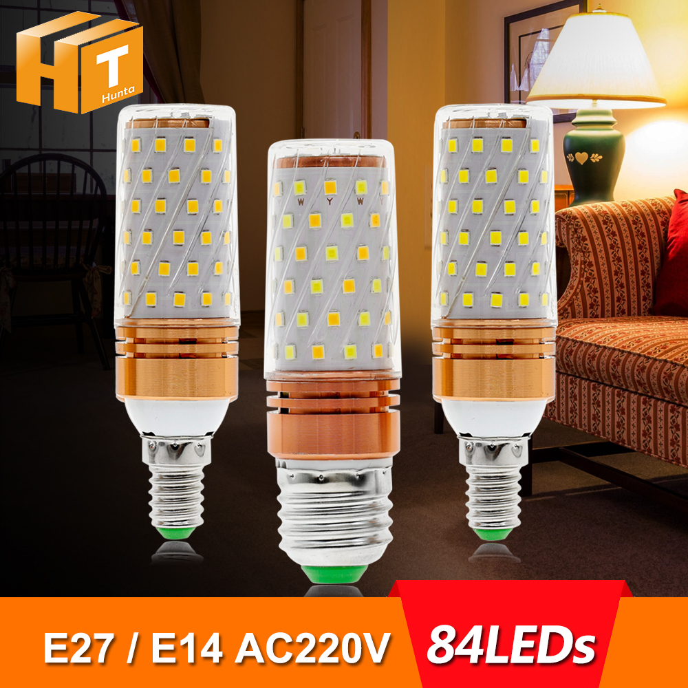 E27 LED Lamp E14 LED Bulb 220V 84LEDs Cold White / Warm White / Double White LED Corn Bulb Lamp Led Light Bulb led candle lights 2835smd candle bulb lamp high brightness 3w e27 e14 ac220v 110v cold white warm white led bulb lamp