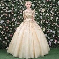 Роскошные золотые кружева одежда с длинным рукавом Вечерние платья 2018 лиф плюс Размеры вечерние платья Элегантный бальное платье Саудовск