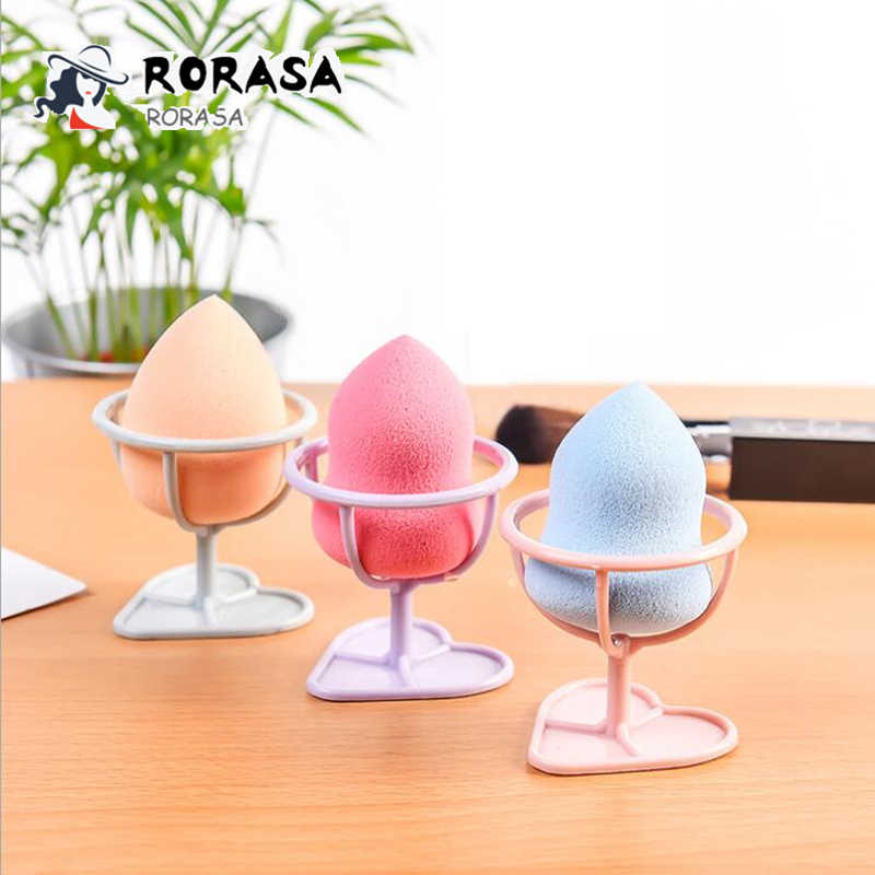 1pc Puff holder Beauty makeup puff racks Nordic style make up sponge display stand Sponge cosmetic tools holder desktop organzer