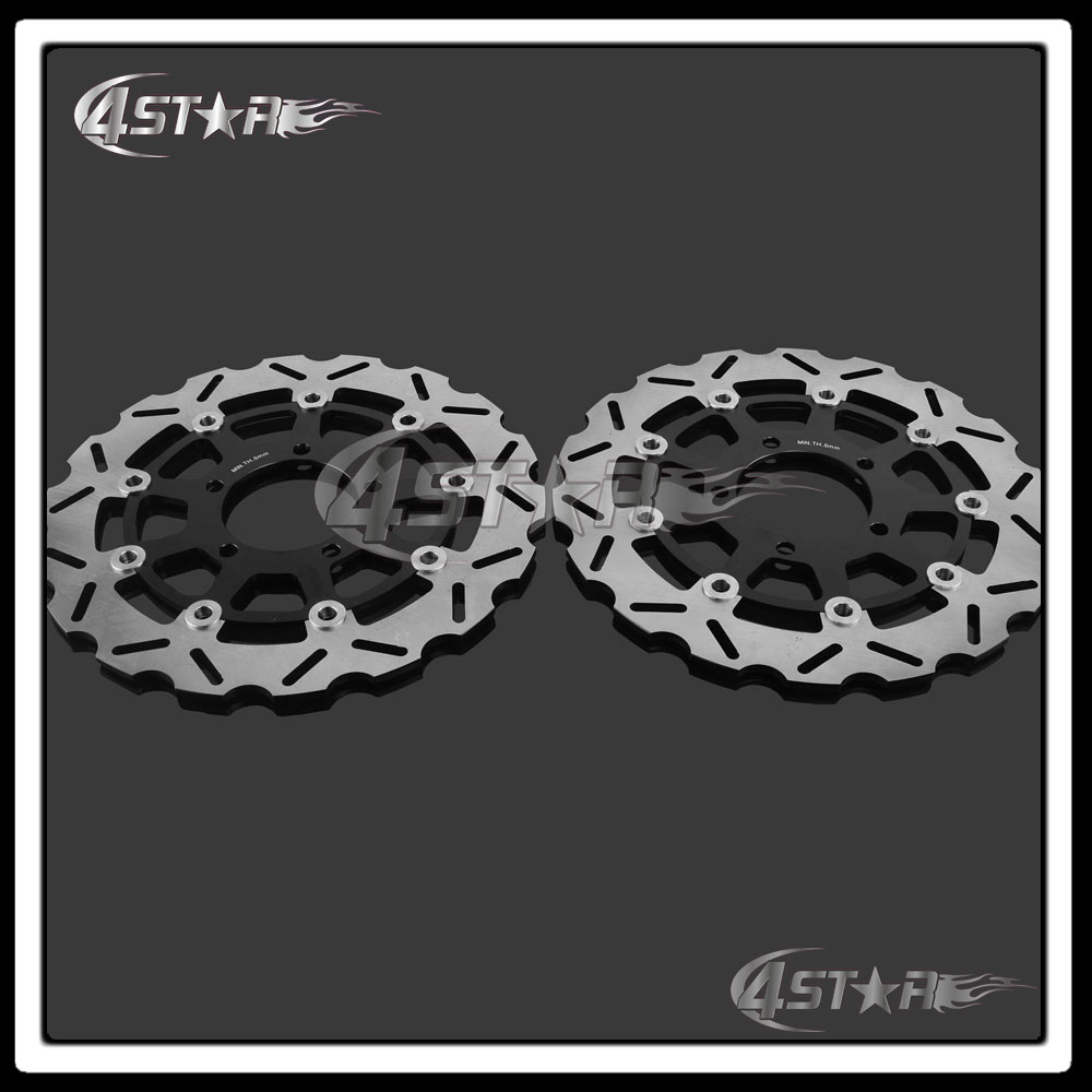 Motorcycle Front Floating Brake Disc Rotor For Ninja ZX6RR ZX6R 600 636 05 06 ER6N ER6F 07-15 Z750 07-12 Z1000 07-13 ZX10R 04-07 цена